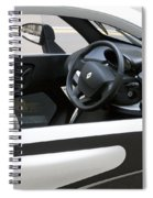 Twizy Rental Electric Car Side And Interior Milan Italy Spiral Notebook