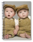 Two Babies In Matching Hat And Overalls Spiral Notebook