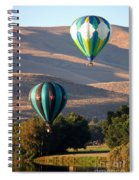 Two Balloons In Morning Sunshine Spiral Notebook