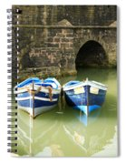 Two Blue Fishing Boats Spiral Notebook