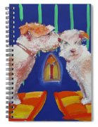 Two Border Terriers Together Spiral Notebook