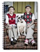 Two Boys And Their Dog Spiral Notebook