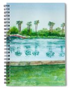 Two Bridges At Rainbow Lagoon Spiral Notebook