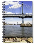 Two Bridges View - Manhattan Spiral Notebook