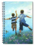 Two Brothers Leaping Spiral Notebook