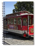 Two Cable Cars San Francisco Spiral Notebook