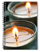 Two Candles Spiral Notebook
