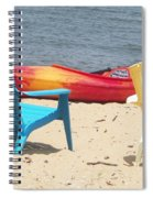 Two Chairs And A Boat Spiral Notebook