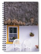 Two Chairs Outside A Cottage, County Spiral Notebook