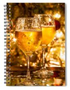 Two Champagne Glasses Ready To Bring In The New Year Spiral Notebook