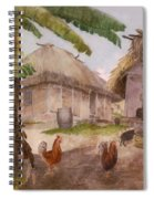 Two Chickens Two Pigs And Huts Jamaica Spiral Notebook