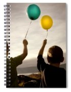 Two Children With Balloons Spiral Notebook