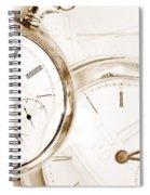 Two Clocks Spiral Notebook