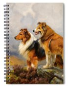 Two Collies Above A Lake Spiral Notebook