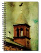 Two Crosses Two Crows Spiral Notebook