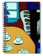 Two Cups One Accordian Spiral Notebook