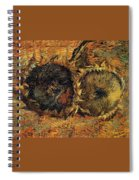 Two Cutted Sunflowers Spiral Notebook