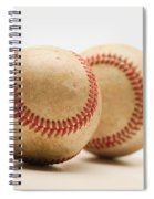 Two Dirty Baseballs Spiral Notebook