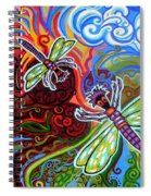 Two Dragonflies Spiral Notebook