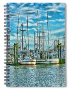 Two Fishing Boats Hdr Spiral Notebook