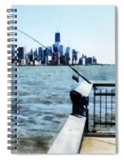 Two Fishing Poles Spiral Notebook