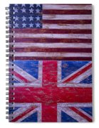 Two Flags American And British Spiral Notebook
