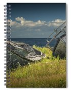 Two Forlorn Abandoned Boats On Prince Edward Island Spiral Notebook