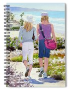 Two Girls At Dog Beach Del Mar Spiral Notebook