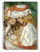 Two Girls Reading Spiral Notebook