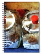 Two Glass Cookie Jars Spiral Notebook