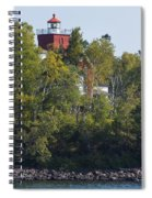 Two Harbors Mn Lighthouse 19 Spiral Notebook