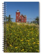 Two Harbors Mn Lighthouse 22 Spiral Notebook