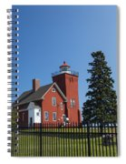 Two Harbors Mn Lighthouse 24 Spiral Notebook