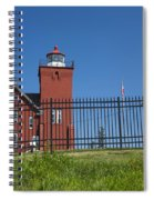 Two Harbors Mn Lighthouse 25 Spiral Notebook