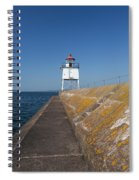 Two Harbors Mn Pier Light 10 Spiral Notebook