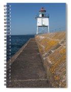 Two Harbors Mn Pier Light 11 Spiral Notebook