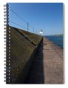 Two Harbors Mn Pier Light 15 Spiral Notebook