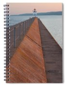 Two Harbors Mn Pier Light 6 Spiral Notebook