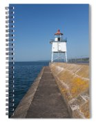 Two Harbors Mn Pier Light 8 Spiral Notebook