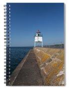 Two Harbors Mn Pier Light 9 Spiral Notebook