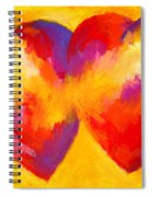 Two Hearts Beat As One Spiral Notebook