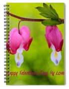 Two Hearts Valentine's Day Spiral Notebook
