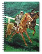 Two Horse Race Spiral Notebook