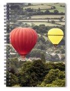 Two Hot Air Baloons Drifting Spiral Notebook