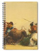 Two Indians Killing A Buffalo Spiral Notebook