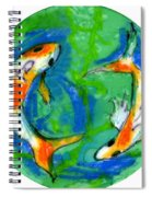 Two Koi Fish Spiral Notebook