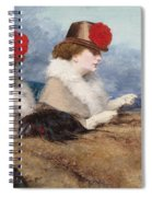 Two Ladies In A Carriage Ride Spiral Notebook