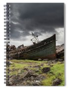 Two Large Boats Abandoned On The Shore Spiral Notebook