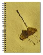 Two Leaves And One Stick At White Sands Spiral Notebook