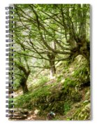 two little brothers Chasing Fairies in theBeech Forest on a summer day Spiral Notebook